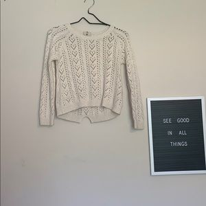 Creme color sweater with gold-size 7-8 Youth